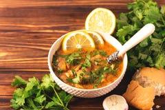 Jewish wedding and holyday Yemenite beef soup Marak Temani. Traditional jewish wedding and holyday Yemenite vegetable beef soup Marak Temani. Yom Kippur. Israeli Royalty Free Stock Photos