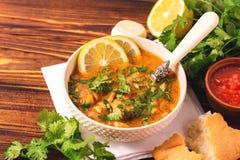 Jewish wedding and holyday Yemenite beef soup Marak Temani. Traditional jewish wedding and holyday Yemenite vegetable beef soup Marak Temani. Yom Kippur. Israeli Stock Photos