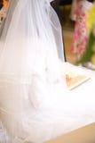 Jewish wedding. prayer bride Stock Images
