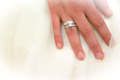 Jewish wedding. Rings Stock Images