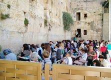 Jewish women pray at the Wailing Wall Royalty Free Stock Photography