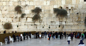 Jewish women  worshipers pray at the Wailing Wall Royalty Free Stock Photography