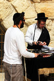 Jewish worshipers  pray at the Wailing Wall Royalty Free Stock Photography