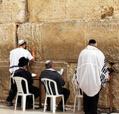 Jewish worshipers  pray at the Wailing Wall Royalty Free Stock Photo