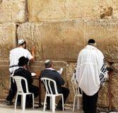 Jewish worshipers  pray at the Wailing Wall Royalty Free Stock Photo