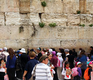 Jewish worshipers (women) pray at the Wailing Wall Stock Photography