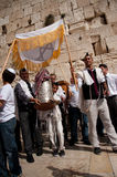 Jewish Worshippers at Western Wall Stock Photography