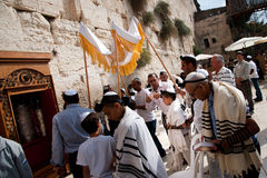 Jewish Worshippers at Western Wall Royalty Free Stock Images