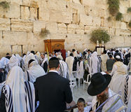 Jewish worshippers  at the Western Wall Royalty Free Stock Photography