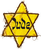 Jewish Yellow Star classification Royalty Free Stock Images