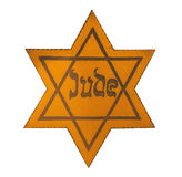 Jewish Yellow Star. This David's Star was used in Ghetto and Concentration Camps stock illustration