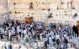 Jewishes praying at the western wall Royalty Free Stock Photography