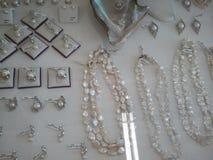 Jewlery Fashion Pearls Diamonds. Fashion Clothing Style Styllish Vintage Trend Lifestyle royalty free stock photography