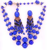 Jewlery. Costume vintage necklace earrings stock photography