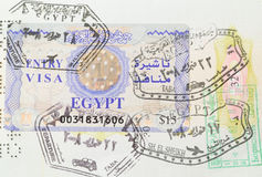 Jews with Arabs live harmoniously in the passport. Jewish and Arab lives stamps in their passports together unlike people Stock Photo