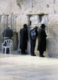 Jews being prayed at the Western Wall in Jerusalem Royalty Free Stock Image