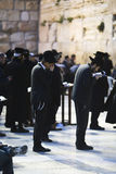 Jews being prayed at the Western Wall Stock Photo