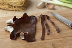 Jews ear mushroom cut into slices Royalty Free Stock Photo