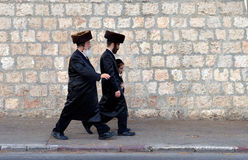 Jews in Jerusalem Royalty Free Stock Photos