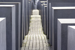 Jews memorial berlin, geometric, architecture, light, shadows, multiplication, symmetry Royalty Free Stock Images