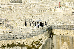 Jews pray at the graves of the ancestors on the mount of olives Royalty Free Stock Images