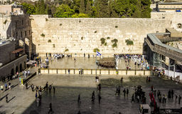 Jews praying at the Wailing Wall in the old city of Jerusalem. I Stock Image