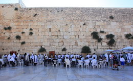 Jews Praying at Western Wall, Jerusalem Stock Photo