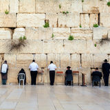 Jews Praying at the Western Wall. Travel to Jerusalem. Israel. Royalty Free Stock Photo