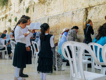 Jews Praying at the Western Wall Royalty Free Stock Photography