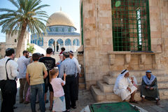 Jews Visit Temple Mount Stock Image