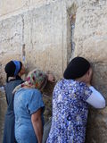 RELIGIOUS JEWS AT THE WESTERN WALL, JERUSALEM, ISRAEL Royalty Free Stock Photography