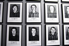 Jews women. The pictures of jews women killed at auschwitz nazi camp in poland Stock Photo