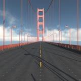 Jezdnia Golden Gate Bridge w San Fransisco ilustracja wektor