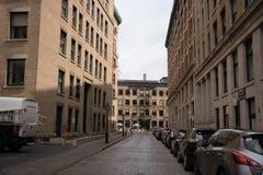 Jezdnia w Historycznym Montreal Kanada zdjęcie royalty free