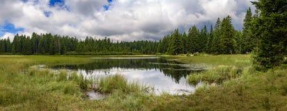 Jezero de Crno - lac noir sur Pohorje, Slovénie Images libres de droits
