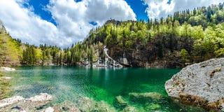 Jezero de Crno (lago negro) Foto de archivo libre de regalías