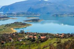 Jezero de Ramsko do lago Rama - Bósnia e Herzegovina Fotos de Stock