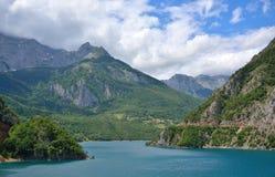 Jezero do lago Piva - do Pivsko fotos de stock royalty free