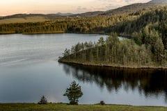 Jezero do lago Ribnicko ou do Ribnicko na montagem Zlatibor, Sérvia imagens de stock