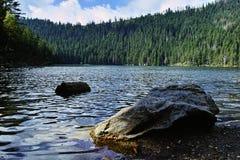 Jezero glaciaire de Certovo de lac du ` s de diable en parc national de Sumava photographie stock