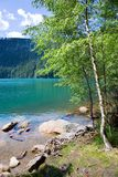Jezero noir glaciaire de Cerne de lac, montagnes de Sumava, région de Bohème du sud, République Tchèque Photographie stock