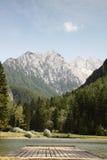 Jezersko lake, Slovenia. View of the Jezersko lake in Slovenia, Europe royalty free stock images