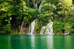 jezior park narodowy plitvice Obraz Royalty Free