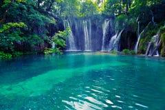 jezior park narodowy plitvice siklawy Zdjęcie Stock