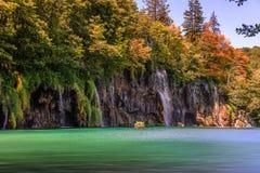 jezior park narodowy plitvice siklawy Chorwacja Obrazy Royalty Free