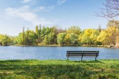 Jeziora i lasu krajobraz, cichy miejsce Obraz Royalty Free