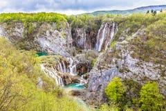 Jeziora I siklawy W Plitvice parku narodowym zdjęcia stock
