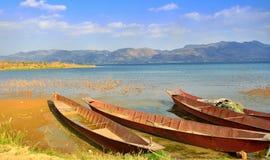 Jeziora i statek Obraz Stock