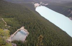 Jeziora Louise i Agnes, Banff park narodowy Obrazy Royalty Free