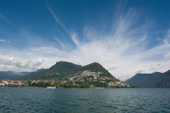 jeziora Lugano Zdjęcia Royalty Free